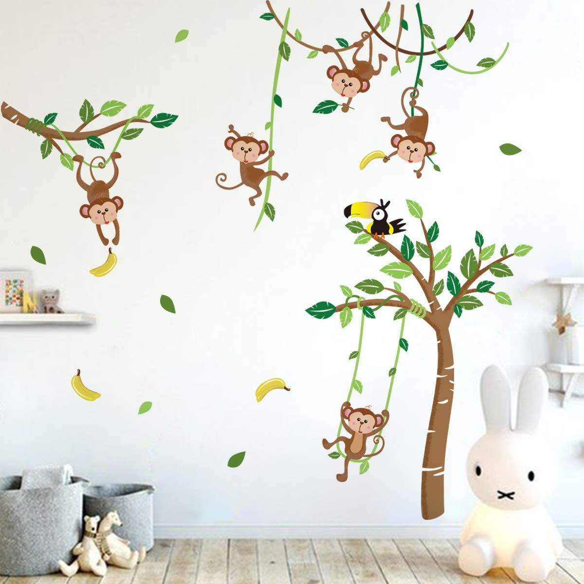 Monkey and Tree Wall Decals