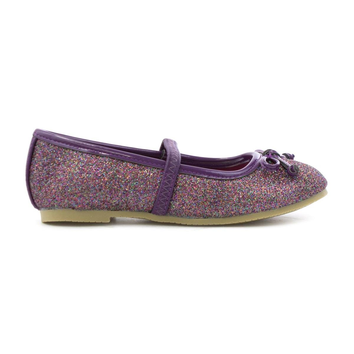 photo Lilley Sparkle Girls Pink Flower Party Shoe-20807 modern collection