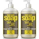 Everyone 3-in-1 soap, Coconut plus Lemon, 32 oz, 2 Count
