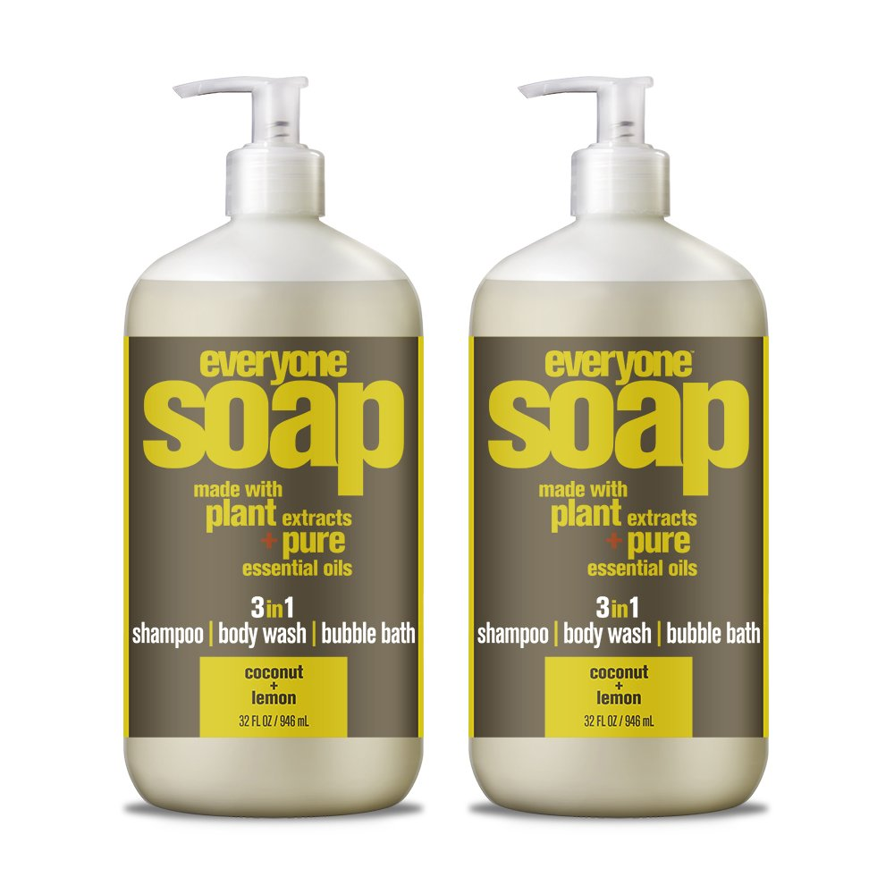 Everyone 3-in-1 soap, Coconut plus Lemon, 32 oz, 2 Count 221601