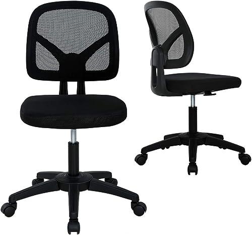 Home Office Chair Armless Mesh Desk Chair Cheap Computer Chair Ergonomic Task Chair