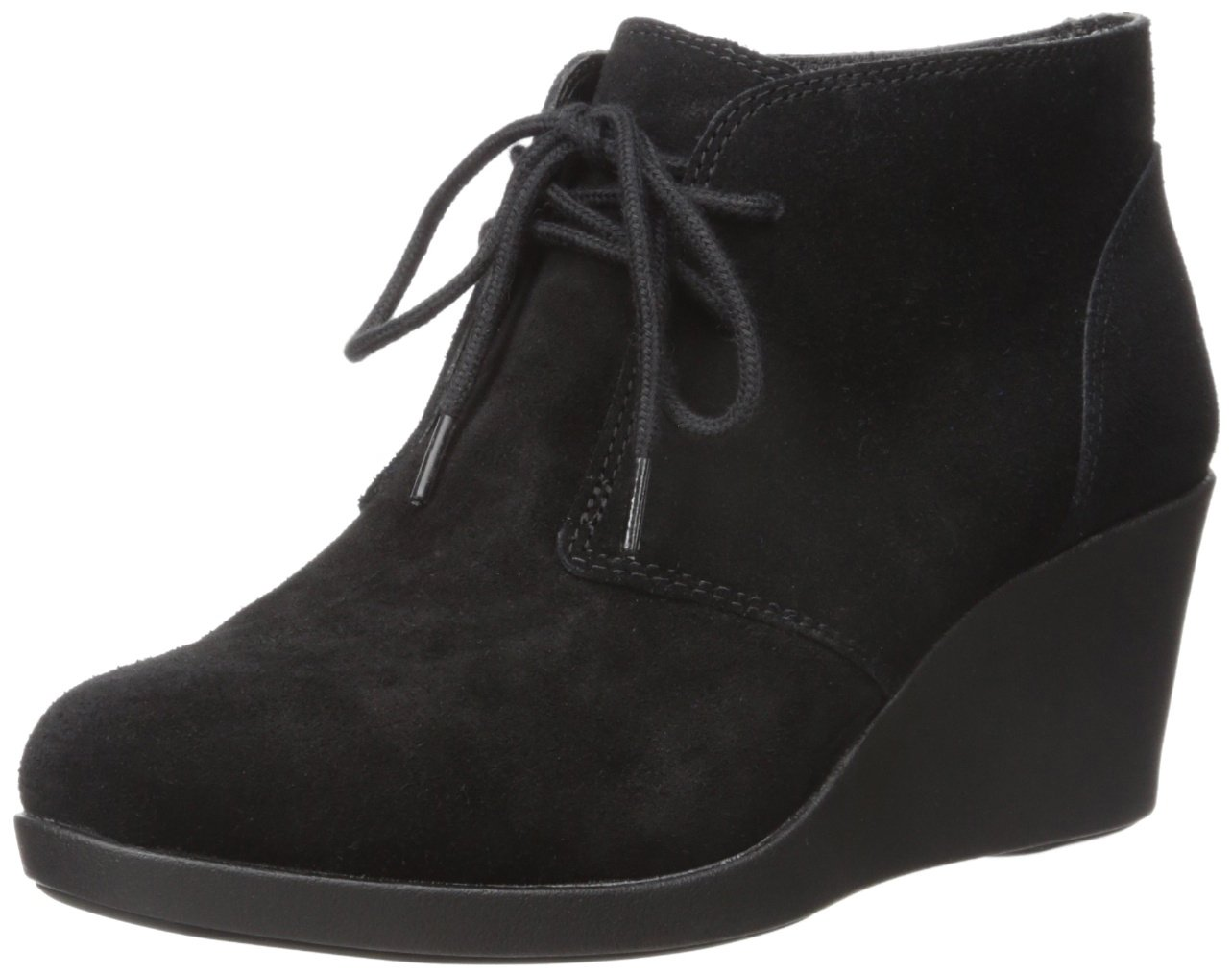 Crocs Women's Leigh Suede Wedge Shootie Boot B01A6LLFCY 11 B(M) US|Black