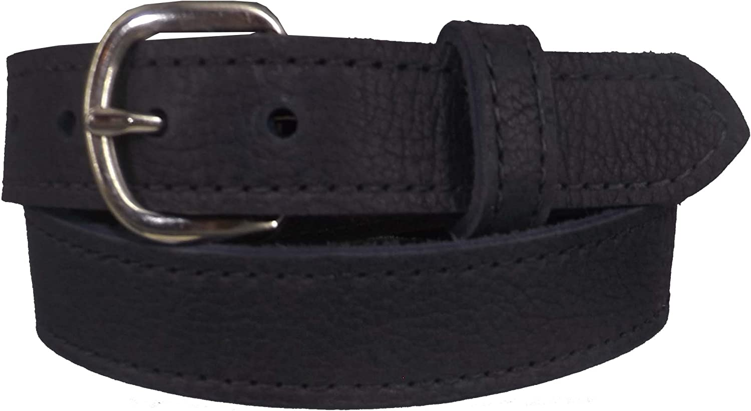 Handmade By Amish Womens Stitched Bullhide Leather Belt