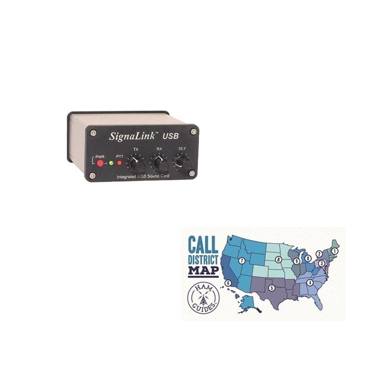 Tigertronics SIGNALINK USB FOR ICOM 13-PIN DIN and Ham Guides TM Pocket Reference Card Bundle