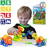 Kidwerkz Dinosaur Toys, STEM Learning (106 pieces), Take Apart Fun (Pack of 3), Construction Engineering Building Play Set For Boys Girls Toddlers, Best Toy Gift Kids Ages 3yr – 6yr, 3 Years and Up