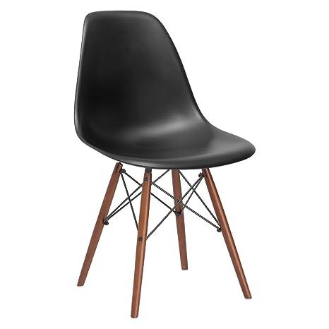 Amazon.com: Poly and Bark Eames Style silla de plá ...