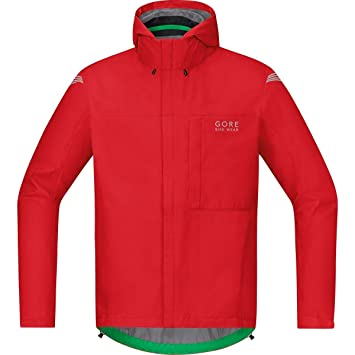 GORE BIKE WEAR Chaqueta para la lluvia, Hombre, Ligera, GORE-TEX, Paclite Jacket, Talla S, rojo, JGPMEL350003: Amazon.es: Deportes y aire libre