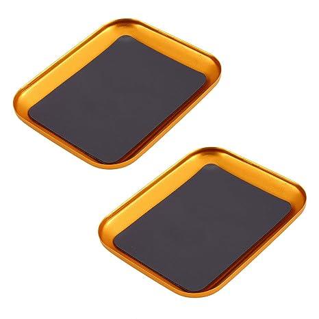 2 Unids Multi-color de Aluminio Bandeja de Tornillo de ...
