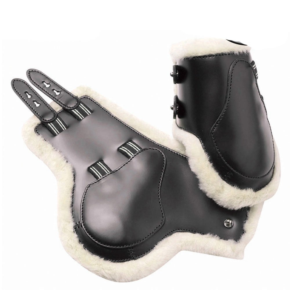 Black Small Black Small Prestige leather fetlock boots with sheepskin lining