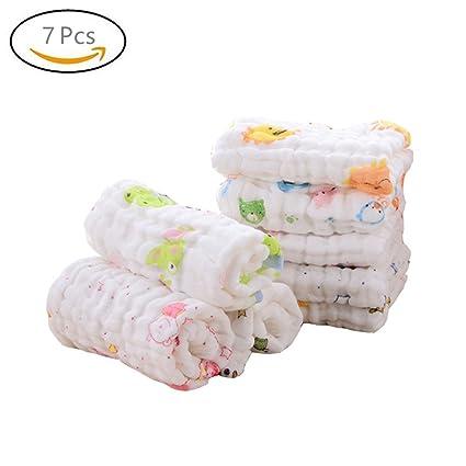 Toallas para la cara del bebé Affe 7 piezas para niños y niñas 6 capas de