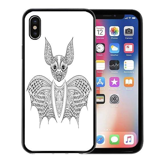Amazon Com Emvency Iphone Case For Iphone X Case Zentangle Bat