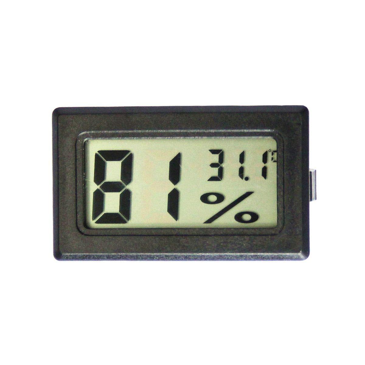 BCCEUROSHOP/® Term/ómetro Higr/ómetro Termohigr/ómetro Digital Medidor De Temperatura Y Humedad 10/% Blanco 99/% RH 50//+70/º Grados Pilas Incluidas