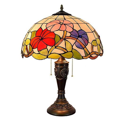 Lámpara De Mesa De Estilo Tiffany, 16 Pulgadas, 2 Luces, Luz De ...