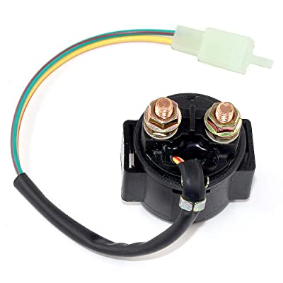 Trkimal Starter Solenoid Relay for 4-Stroke GY6 Engine 50cc 125cc 150cc 200cc 250cc Scooters Go Kart ATV Dirt Bikes Dne Buggys Quad 4 Wheeler Pit Bike Moped Roketa SSR Sunl Coolster Tao tao: Automotive