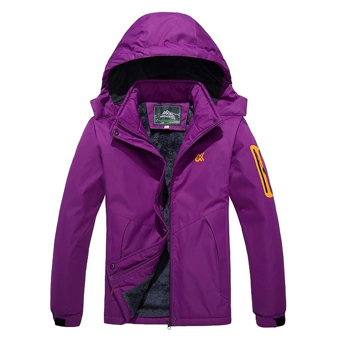 MAGCOMSEN Womens Waterproof Mountain Snowboarding Fleece Ski Jackets Sportswear
