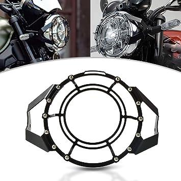 Motorrad Scheinwerfer Grill Headlight Cover Mask Für Kawasaki Z900rs Z 900 Rs 2017 2018 2019 Schwarz Auto