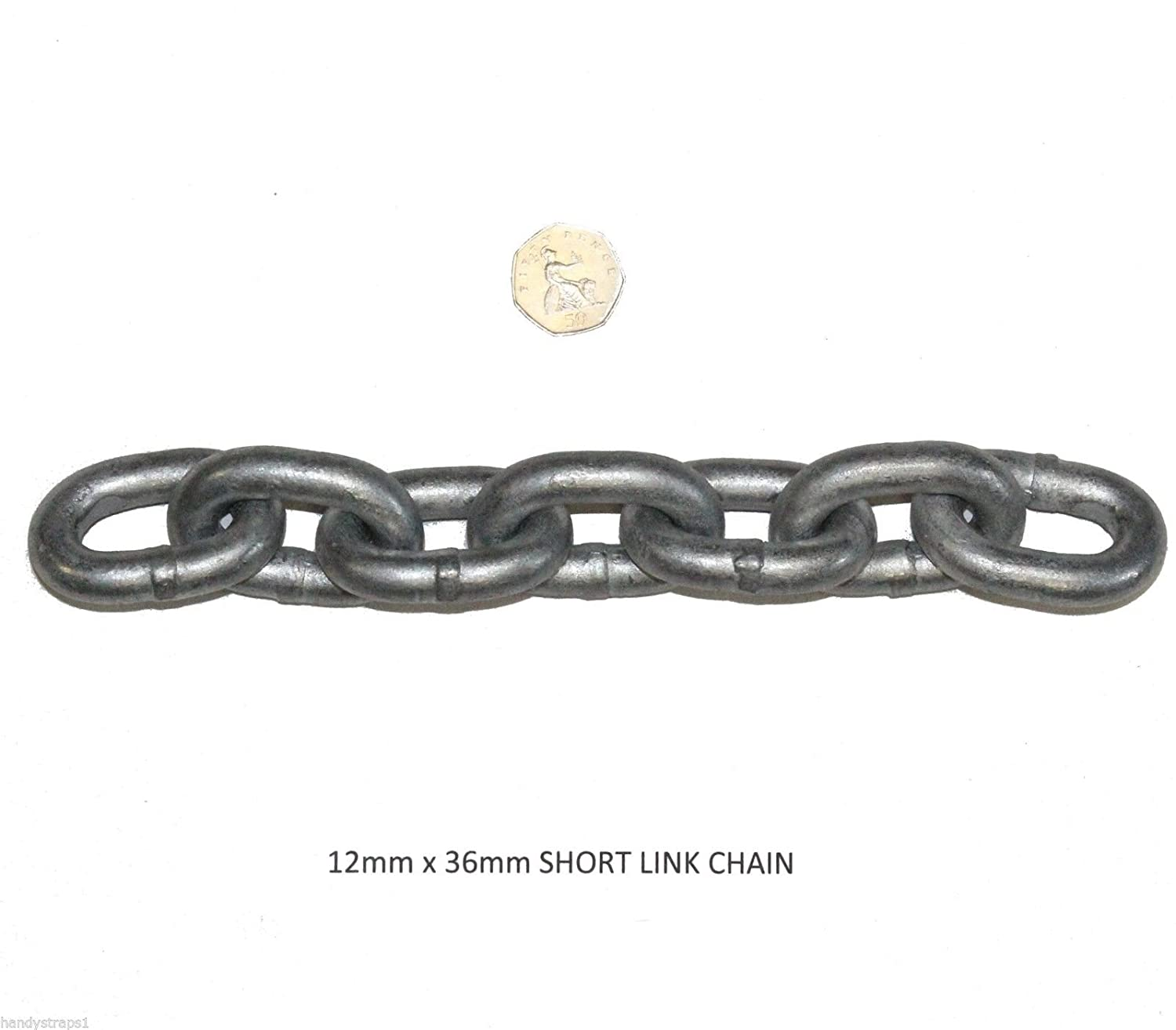 12 mm x 36mm Short Link Galvanised Anchor Mooring Chain Lifting Boat Yacht