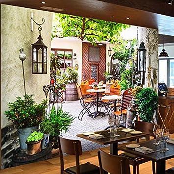 Poowef - Papel pintado 3D, diseño de jardín botánico con murales grandes, para cocina, restaurante, salón del continente americano, papel pintado: Amazon.es: Bricolaje y herramientas