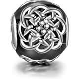 """NinaQueen """"Celtic Tattoos"""" 925 Sterling Silver Black Bead Charms"""