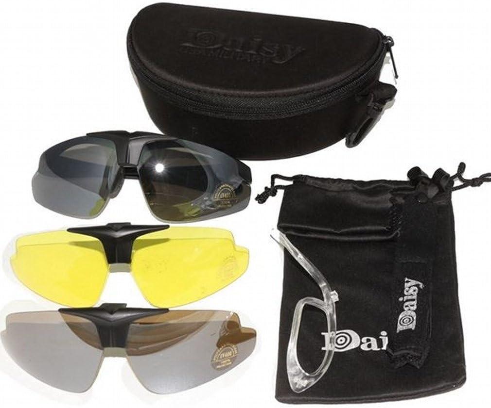 ARUNDEL SERVICES EU Nuevo Daisy C1 Militar táctica Deporte Gafas Gafas al Aire Libre 3 Lentes Gafas de Sol Gafas de Sol Pesca Escalada Tiro Caminar
