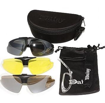 Nuevo Daisy C1 militar táctica deporte gafas gafas al aire libre 3 lentes gafas de sol Gafas de sol Pesca Escalada Tiro Caminar: Amazon.es: Deportes y aire ...