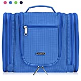 Heavy Duty Waterproof Hanging Toiletry Bag - Travel Cosmetic Makeup Bag for Women & Shaving Kit Organizer Bag for Men - X Large Size: 11 x 4.5 x 9.5 Inch