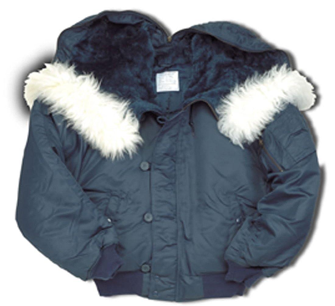 36e840c69a3 Delta Army Military Mens N2B N-2B Snorkel Bomber Flight Jacket Winter Coat   Amazon.co.uk  Clothing