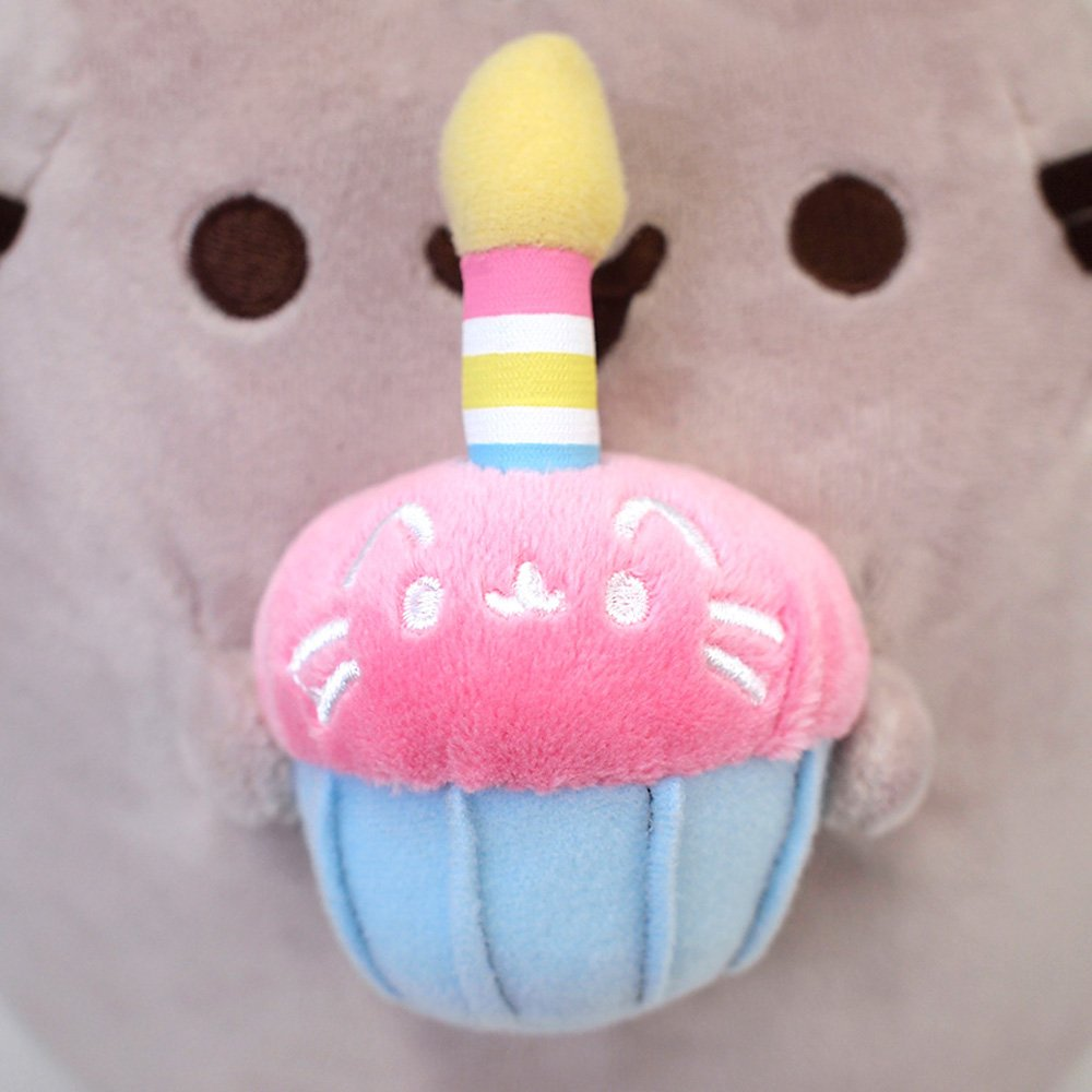 GUND Pusheen Snackables Birthday Cupcake Plush Stuffed Animal, Gray, 10.5'' by GUND (Image #6)