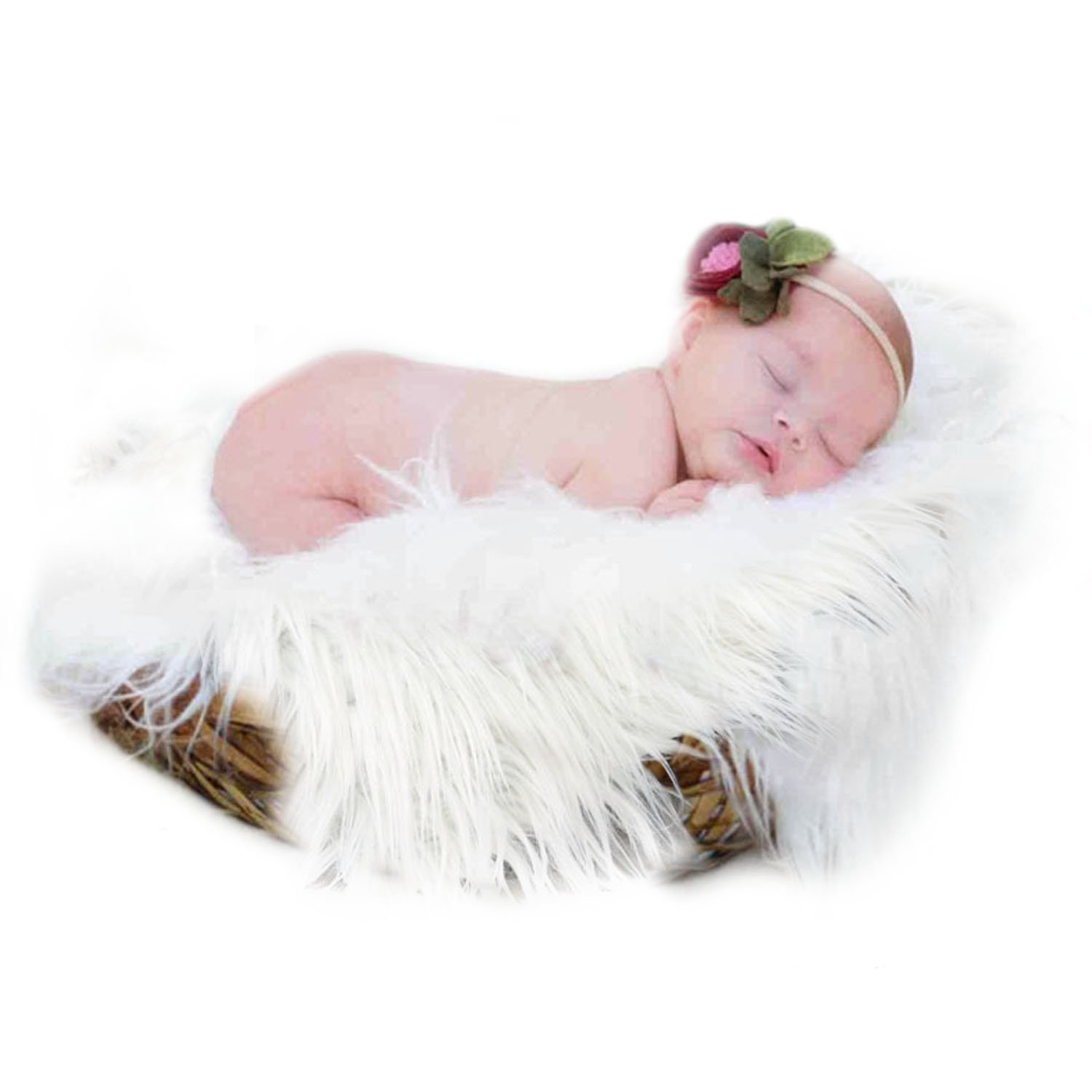 Soft Photo Blanket, Aniwon Baby Photo Prop Long Hair Shaggy Rug Photography Wrap for Newborn