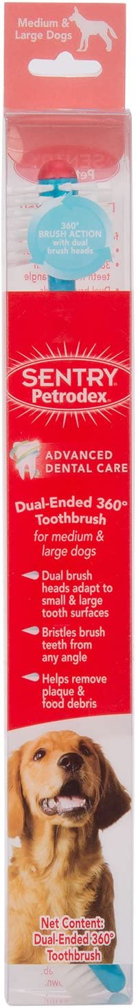Petrodex Dual Ended 360 Toothbrush for Large Dogs