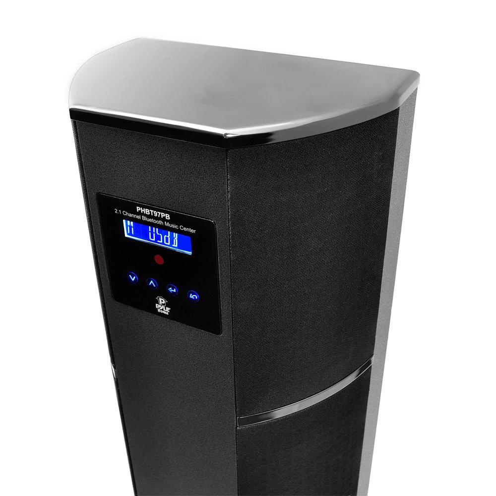 Pyle PHBT97PB Inalámbrico y alámbrico 2.1 600W Negro altavoz soundbar - Barra de sonido (2.1 canales, 600 W, 600 W, 0,1%, 8,89 cm (3.5