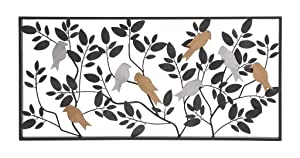 """Deco 79 Metal Wall Decor 37 by 18"""""""