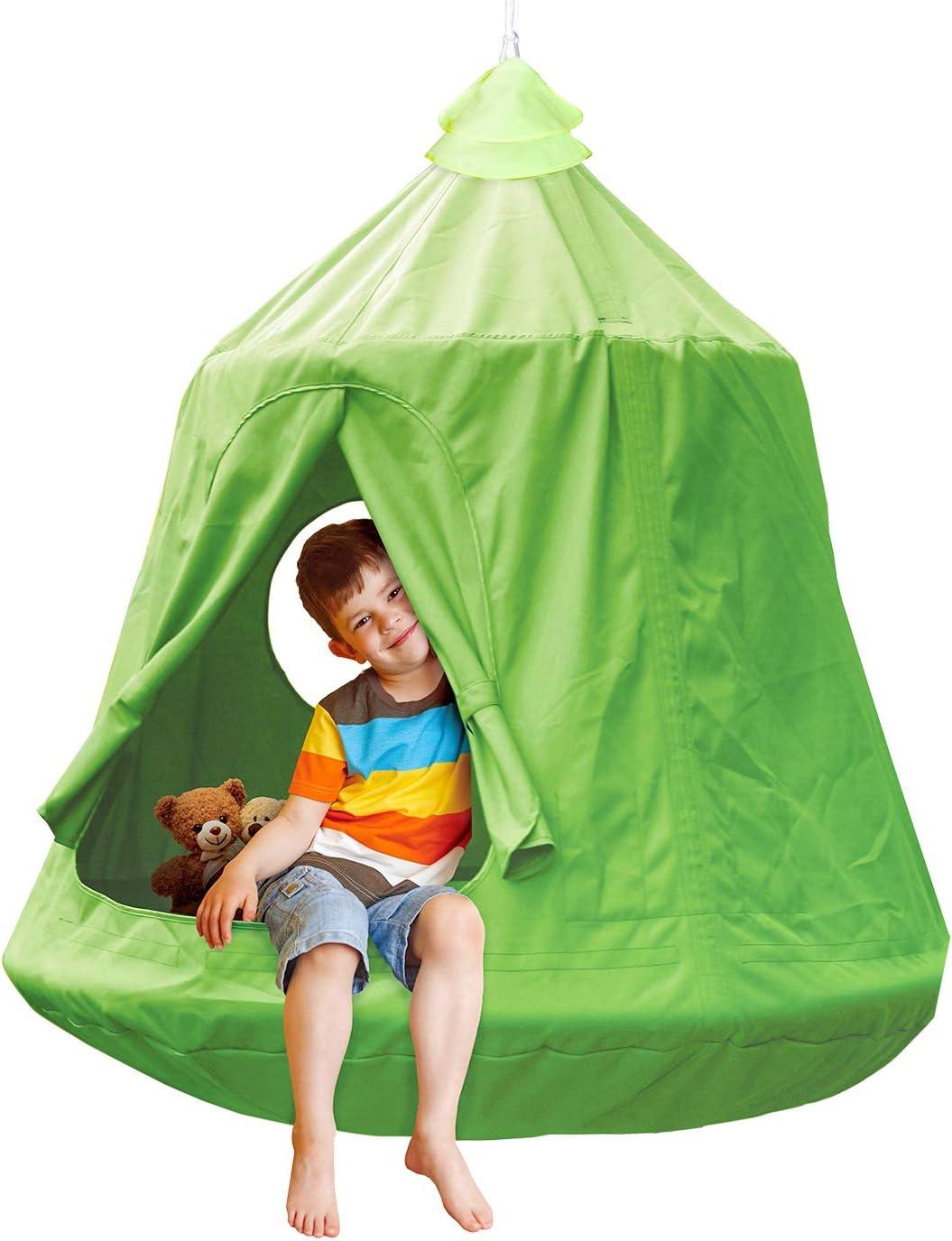 Waterproof Hanging Tree Ceiling Hammock Tent Kids Sky Castle Paradise