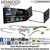 Volunteer Audio Kenwood DDX9704S Double Din Radio Install Kit with Apple Carplay Android Auto Fits 2001-2004 Escape, 2000-2004 Excursion, 1999-2004 F-150, 2001-2003 Mustang