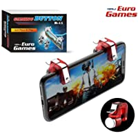 RPM Euro Games PUBG Trigger R11 Mobile Gaming Controller Button triggers for Phone (Red)
