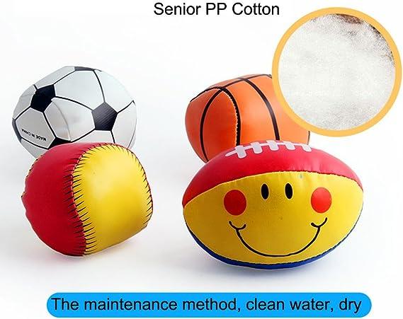 TianranRT - Juego de 4 pelotas de fútbol para bebé (algodón suave ...