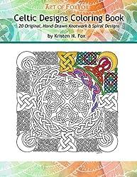 Celtic Designs Coloring Book: 20 Original, Hand-Drawn Knotwork & Spiral Designs