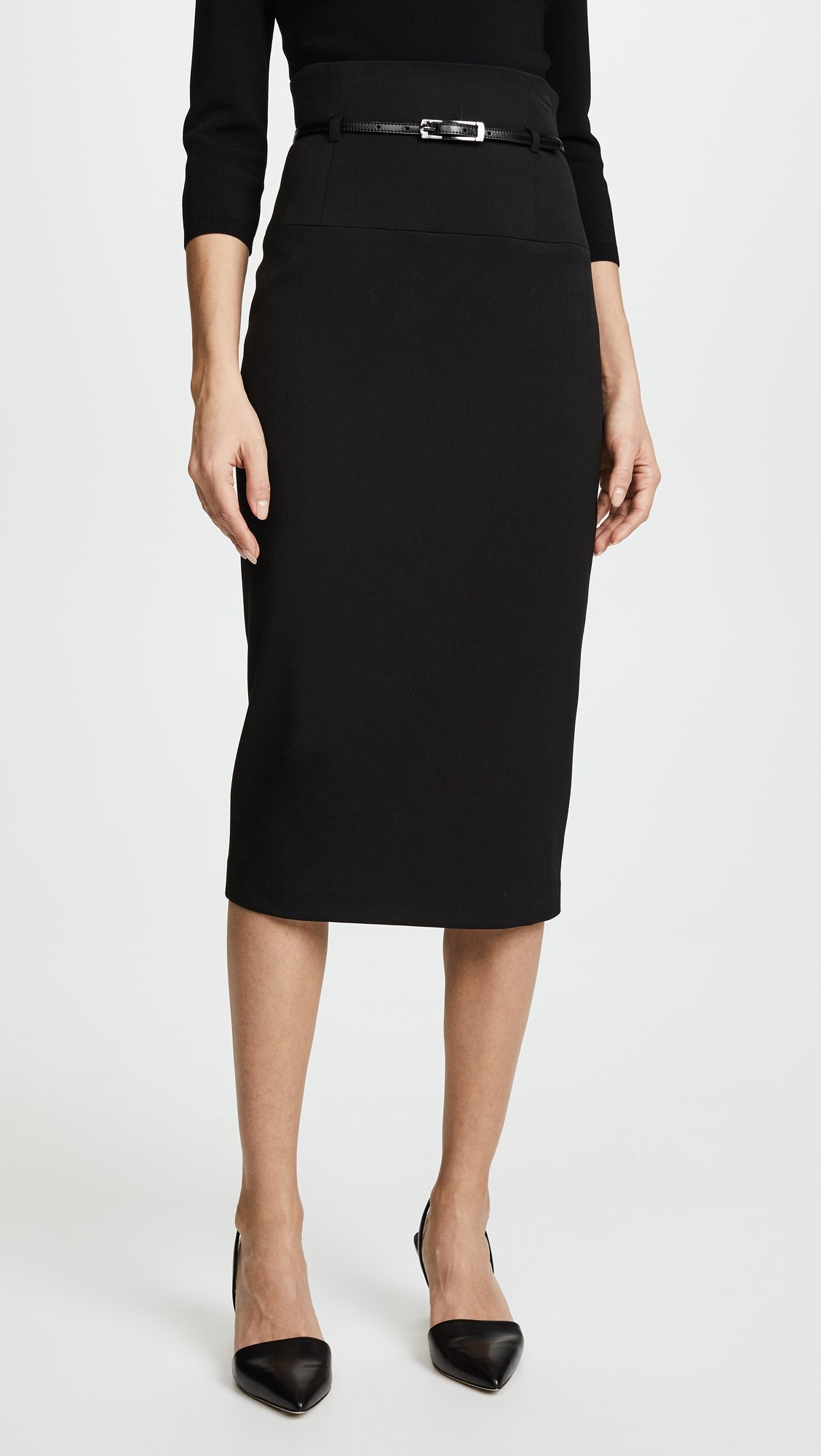 Black Halo Women's High Waisted Pencil Skirt, Black, 10 by Black Halo (Image #2)