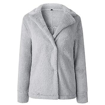 Qiusa Mujeres Casual Manga Larga Jersey Blusa Frente Abierta Chaqueta Abrigo Prendas de Abrigo (Color : Gris, tamaño : 16): Amazon.es: Hogar