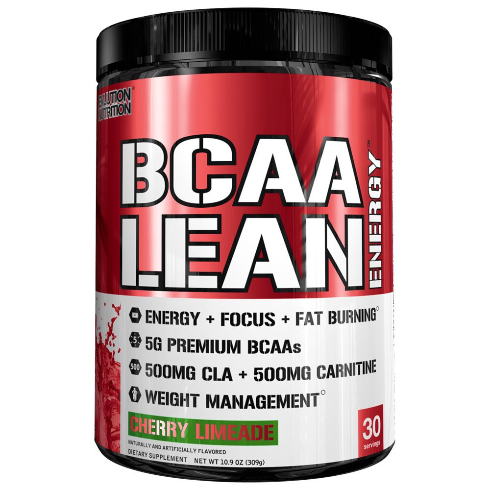 Evlution Nutrition BCAA Lean Energy - Energizing Amino Acid for Muscle Building Recovery and Endurance, with a Fat Burning Formula, 30 Serving (Cherry Limeade)