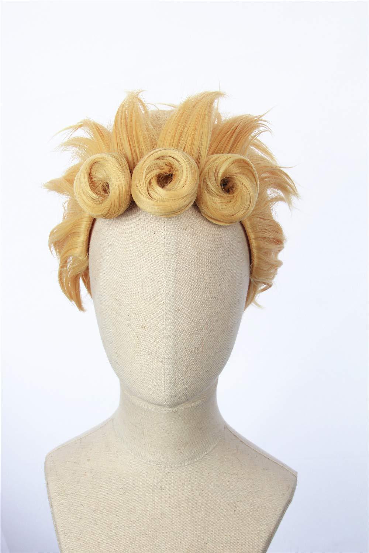 JoJo/'s Bizarre Adventure Golden Wind Giorno Giovanna Blonde Anime Cosplay Wig