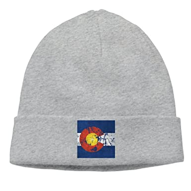 Image Unavailable. Image not available for. Color  SESY Vintage Colorado  Flag Beanies Knitted Caps Skull Hats Unisex ... d0ca8489959f