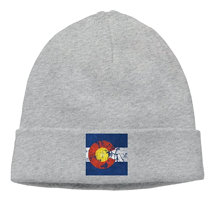 Amazon.com  SESY Vintage Colorado Flag Beanies Knitted Caps Skull Hats  Unisex Soft Cotton Warm.  Clothing e39e85cec6bc