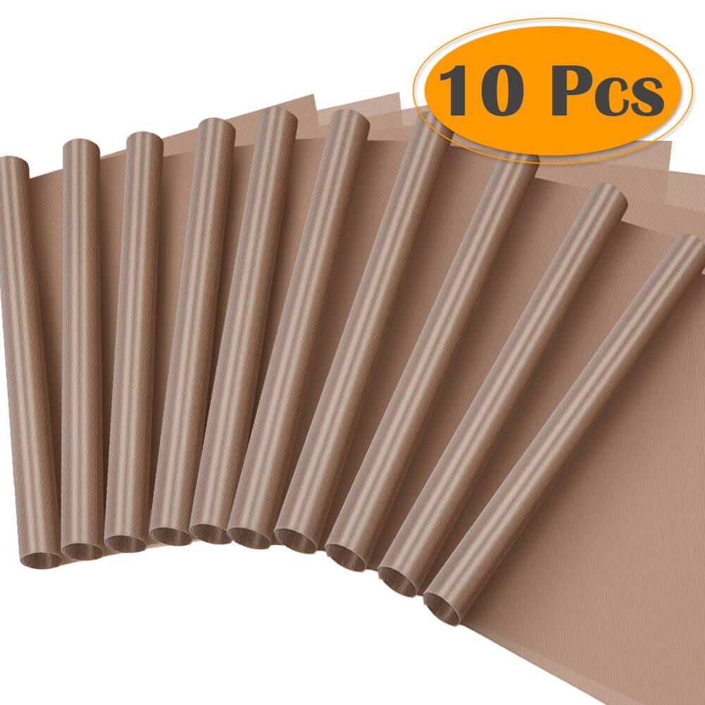 Selizo 10 Pack PTFE Teflon Sheet for Heat Press 16'' x 24'' Non Stick Heat Resistant Craft Mat