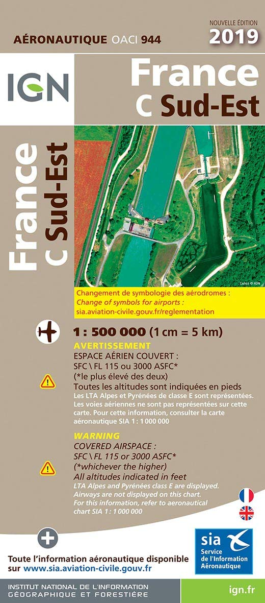 OACI France 2019 South-East 2019 Carte Aéronautique OACI: Amazon ...