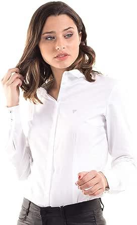 Guess Camisa Blanca Sastre (XS - Blanco): Amazon.es: Ropa