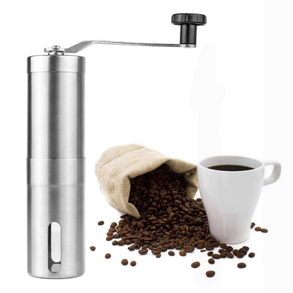 Manual Coffee Grinder Ceramic Grinder Adjustable Grinding Roughness Rugged Removable Washable SDMH