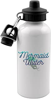 Mermaid Water 20 Oz White Aluminum Water Bottle