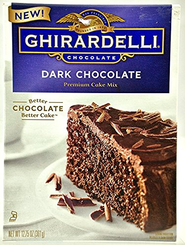 Ghirardelli Cake - Ghirardelli Dark Chocolate Premium Cake Mix 12.75 oz ( 2 Pack)