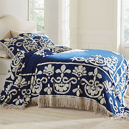 Brylanehome Holden Chenille Bedspread (Ivory,Queen)